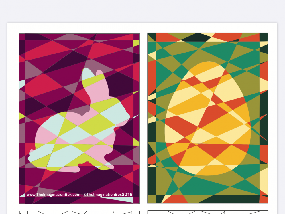 Geometric Easter Designs!